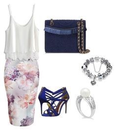 Untitled #20 by amra-fd on Polyvore featuring polyvore fashion style Chicwish New Look Ted Baker Tory Burch clothing