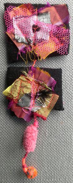 Broche textile. Esprit couture. Bijou chic et par VeronikB sur Etsy