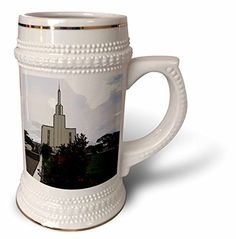 Jos Fauxtographee Realistic - LDS Temple in Hamilton New Zealand with Shrubs and Green Grass out Front and a View if the Walkway - 22oz Stein Mug (stn_48408_1) 3dRose http://www.amazon.com/dp/B0147LWT9M/ref=cm_sw_r_pi_dp_4ek1wb0NJYTYB