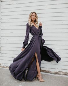 """1,810 Likes, 21 Comments - VICIDOLLS (@vicidolls) on Instagram: """"BESTSELLER / MORE COLORS LONG SLEEVE DIANA MAXI DRESS $88 - Dark Teal, Black, Charcoal & Wine⠀ S M…"""""""