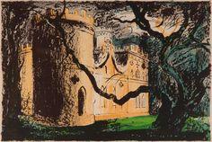 Clytha Castle Lithograph by John Piper