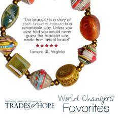 Haitian Signature Bracelet - Trades of Hope - www.mytradesofhope.com/LauraJWilson.