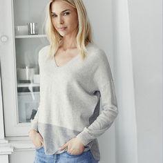 The White Company colour block jumper