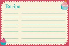 Birthday Party Blog Free Printables  Cookie Swap Recipe Cards