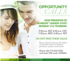 Dial in and invite your friends to learn more about Jeunesse®! #jeunesse #jeunesseglobal #redefiningyouth #generationyoung