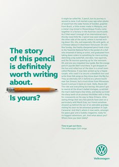 Print advertisment created by DDB, Germany for Volkswagen, within the category: Automotive.