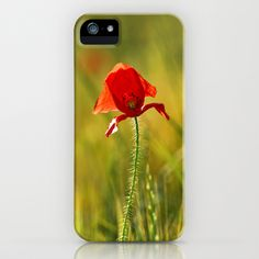 Poppy iPhone & iPod Case by Guido Montañés - $35.00