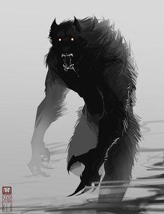 Enraged werewolf