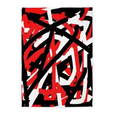 Black, red and white graffiti 5x7'Area Rug by Khoncepts on CafePress.com (sold! NY) I'm so excited, my first rug  :-)