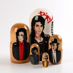 Michael Jackson 5pc Nesting Doll