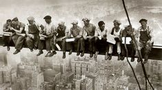 Lunch Break during the building of Rockefeller Centre