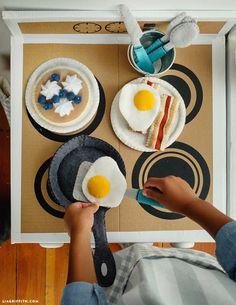 Еда для игр в завтрак из фетра