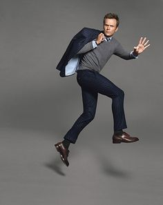 Intelligently humorous and snarky? Check. Impeccably well dressed? Check. Perfect man combo.