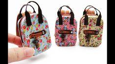 DIY Miniature Craft - Mini Floral Backpack Bag