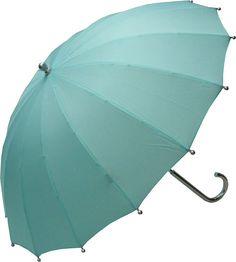 Raindrops|Umbrellas:Adult Tiffany Teal Parasol