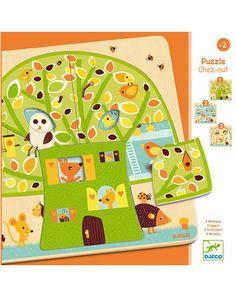 Lagen-Puzzle CHEZ NUT 12-teilig aus Holz
