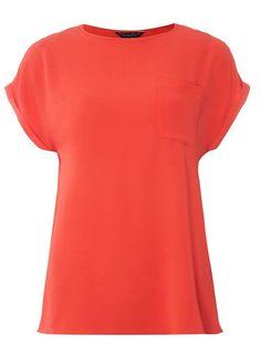 111465b974108 Dorothy Perkins Coral Zip Back T-Shirt Size UK 10 rrp 22 DH182 MM 10