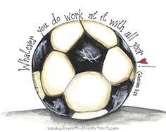 Soccer Scripture, Inspiration, Soccer Paintings, Soccer Doodles, Soccer Ball Painting, Soccer Print