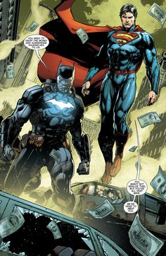 Supes & Bats in Justice League #36 (2014)