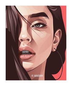 Portraits Illustrés, L'art Du Portrait, Vector Portrait, Digital Portrait, Drawing Portraits, Illustration Vector, Portrait Illustration, Vector Art, Illustration Simple