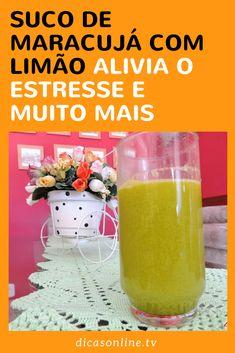 Suco de maracujá com limão - Benefícios
