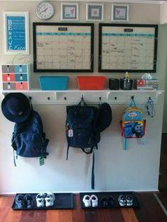 Se trata de dedicar una pared a la organización de la familia, los horarios, los…