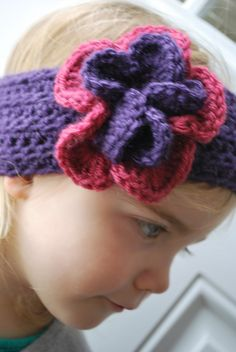 Fancy Flower Crochet Headband Pattern | A Crafty House: Knitting and Crochet Patterns and Crafts
