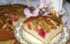 W Mojej Kuchni Lubię.. : leniwe drożdżowe z rabarbarem...