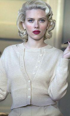 Scarlett Johansson On The Set Of 'The Black Dahlia' Film, 2006