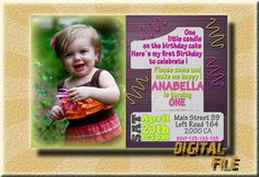 First Birthday First Birthday Girl invitation by DigitalitemsShop
