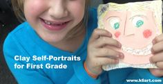 K-6 Art: clay self portraits for first grade