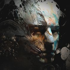 Paint Portrait by Lee Griggs on Behance.More 3D art here.