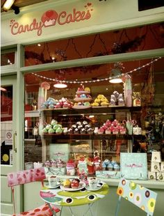 Candy Cakes #shop #window #store #front #desserts