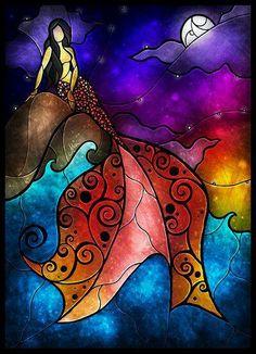 Mermaid :) #StainedGlassMermaid