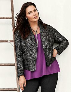 Lace motorcycle jacket....I just got it from lanebryant.com!