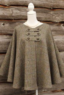 Harriet Hoot Harris Tweed Cape                                                                                                                                                      More