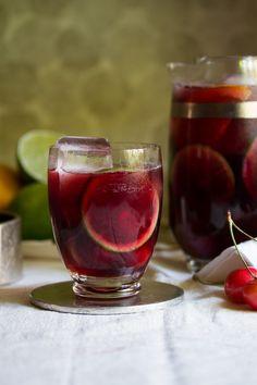 Ruby Red Cherry Sangria   http://saltandwind.com