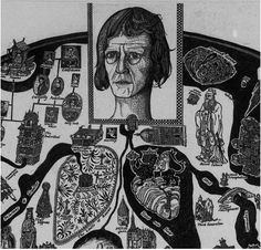 Map of Nowhere  by Grayson Perry (detail)