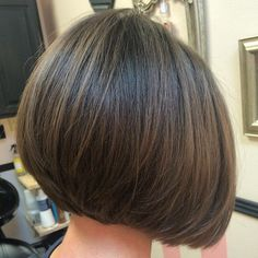 low maintenance short bob hairstyles for fine hair Short Hair Cuts, Short Hair Styles, Graduated Bob Hairstyles, Corte Y Color, Short Bob Haircuts, Hair Color And Cut, Hair Affair, Great Hair, Hair Today