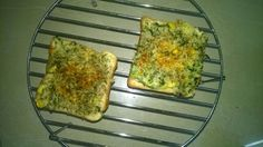 Corn and spinach toast In a pan melt some butter, add finely chopped garlic generously and finely çhopped onions. Once they are fluffy add corn, saute, add half a teaspoon of nutmeg powder(goes well with spinach-optional). Add 1/4 cup of all purpose flour and mix it well. Now add a cup of milk for 1/4 cup of flour. Add required salt. Mix thoroughly. Once it thickens add finely chopped spinach. The spinach might leave some water. Cook for 2 mins until all the water is absorbed. Now spread the…