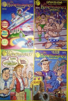 The Honeymooners Lot of 4 Copper Age Comic Books by Triad Publications 1988 | eBay