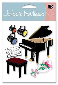 EK Success - Jolee's Boutique Stickers - Piano Recital   $4.61