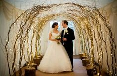 Willow and fairy light tunnel  For prices please contact us