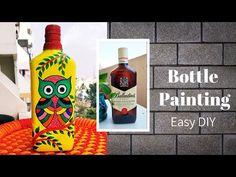 Beer Bottle Crafts, Beer Bottles, Diy Bottle, Bottle Art, Diy Crafts Hacks, Jar Crafts, Decor Crafts, Diy Popsicle Stick Crafts, Buddha Canvas