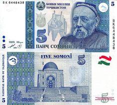 TAYIKISTAN - 5 SOMONIS 1999 #banknote #tayikistan