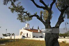 Stockfoto : The bright white Nossa Senhora de Guadalupe chapel. Serpa, Portugal