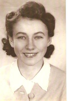 This is my grandmother, Hazel Dorothy, in Australia in the 1940s. What a cutie, right? Love those retro rolls.