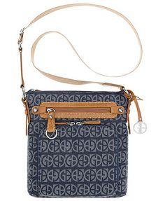 Giani Bernini Handbag, Block Signature Crossbody