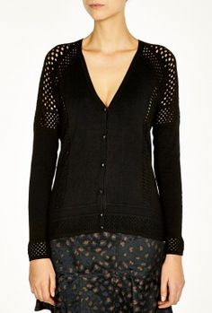 Winnie V Neck Mesh Cardigan by Marc by Marc Jacobs