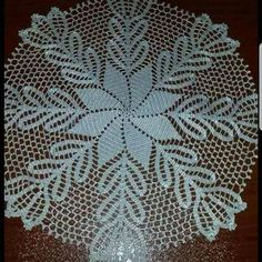 Best 12 Handmade Crochet Cotton Doily With Pineapple Shape Details Crochet Table Topper, Crochet Table Runner Pattern, Crochet Lace Edging, Crochet Borders, Crochet Tablecloth, Crochet Round, Filet Crochet, Easter Crochet Patterns, Crochet Square Patterns